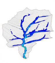 2d distributed hydrology